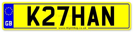 1992 Khan, Khans Number Plate: K27 HAN For Sale (picture 1 of 1)