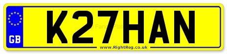 Khan, Khans Number Plate: K27 HAN