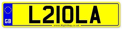 LOLA, LOLAS, Number Plate: L21 OLA