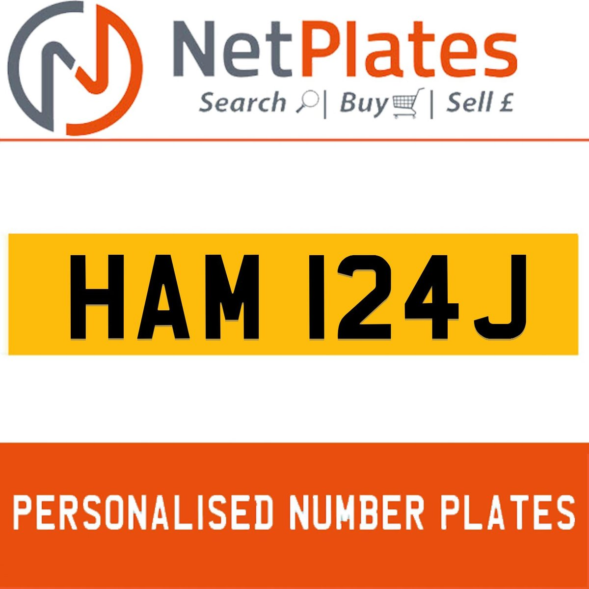 1900 HAM 124J PERSONALISED PRIVATE CHERISHED DVLA NUMBER PLATE For Sale (picture 1 of 5)