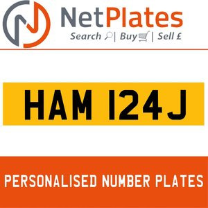 HAM 124J PERSONALISED PRIVATE CHERISHED DVLA NUMBER PLATE