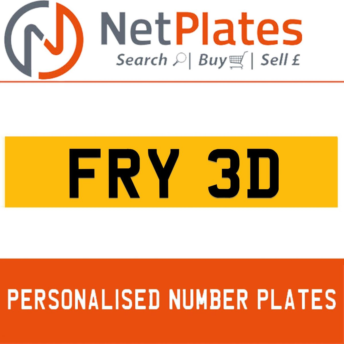 1900 FRY 3D PERSONALISED PRIVATE CHERISHED DVLA NUMBER PLATE For Sale (picture 1 of 5)