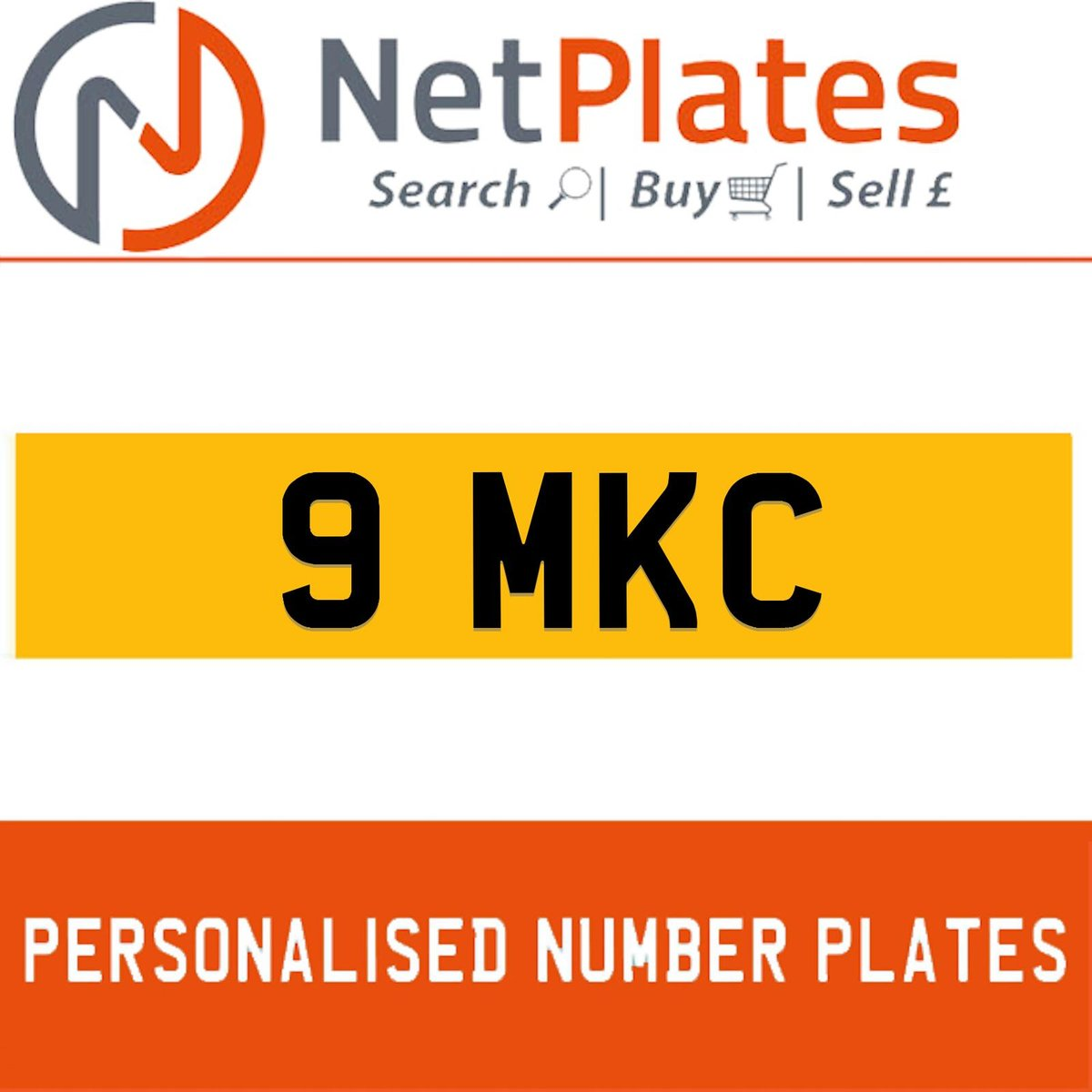 1900 9 MKC PERSONALISED PRIVATE CHERISHED DVLA NUMBER PLATE For Sale (picture 1 of 5)