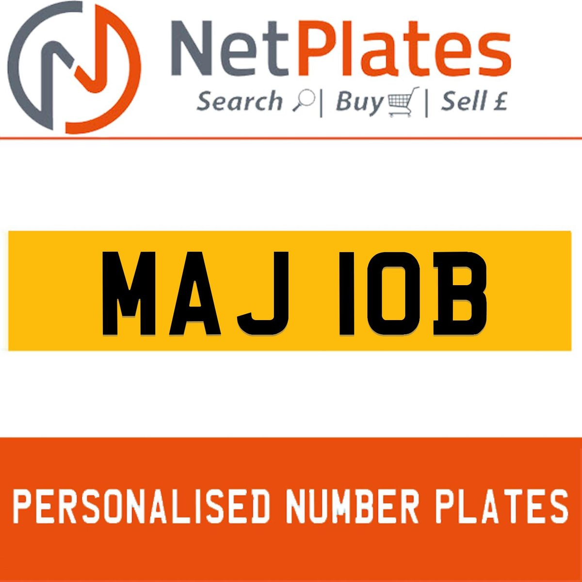 1900 MAJ 10B PERSONALISED PRIVATE CHERISHED DVLA NUMBER PLATE For Sale (picture 1 of 5)