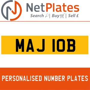 MAJ 10B PERSONALISED PRIVATE CHERISHED DVLA NUMBER PLATE