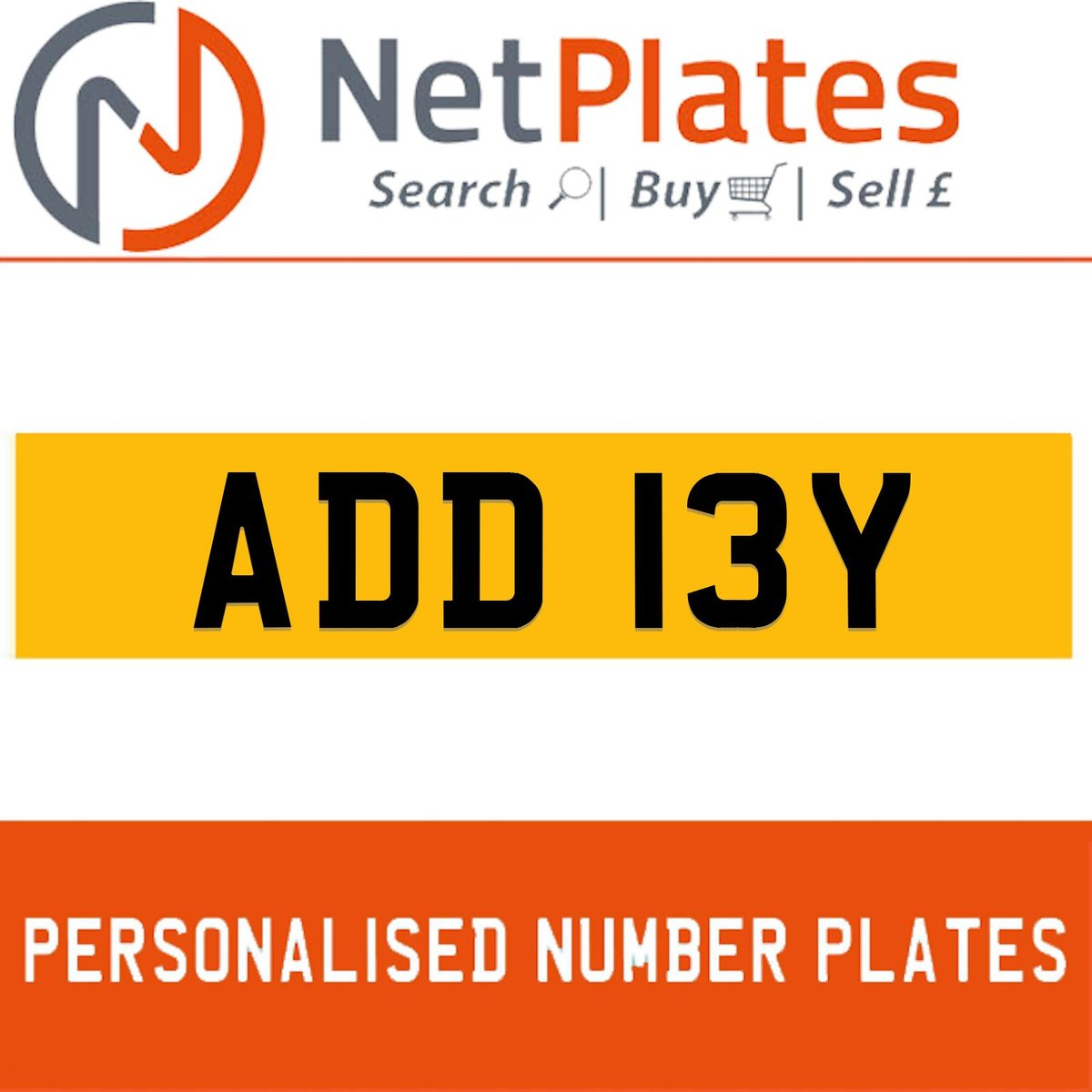 1900 ADD 13Y PERSONALISED PRIVATE CHERISHED DVLA NUMBER PLATE For Sale (picture 1 of 1)