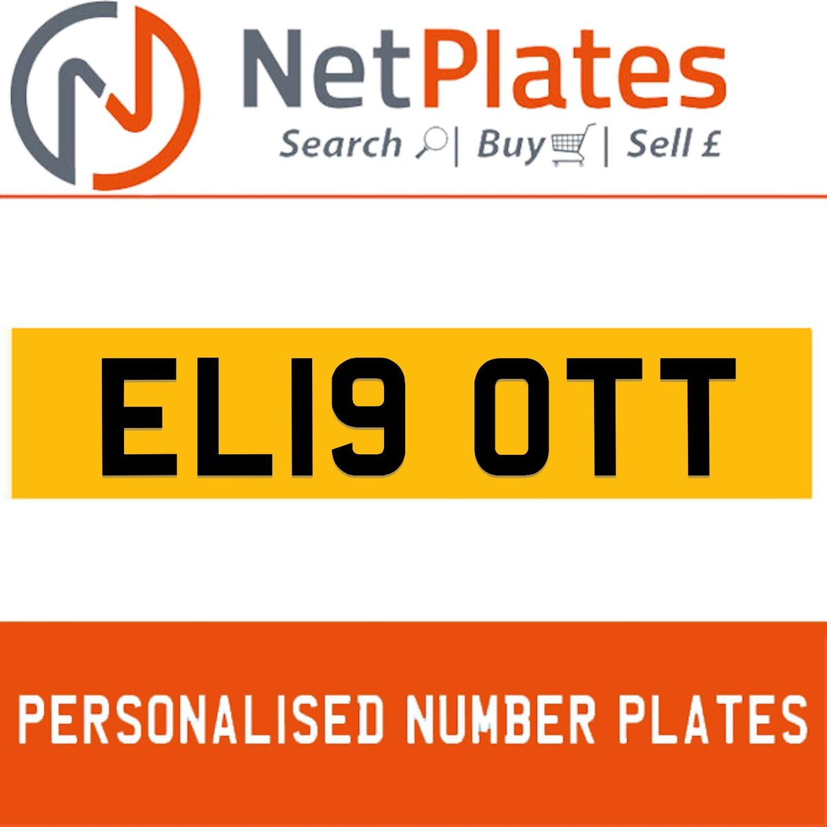 1900 EL19 OTT Private Number Plate from NetPlates Ltd For Sale (picture 1 of 1)