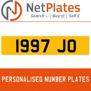 1997 JO Private Number Plate from NetPlates Ltd