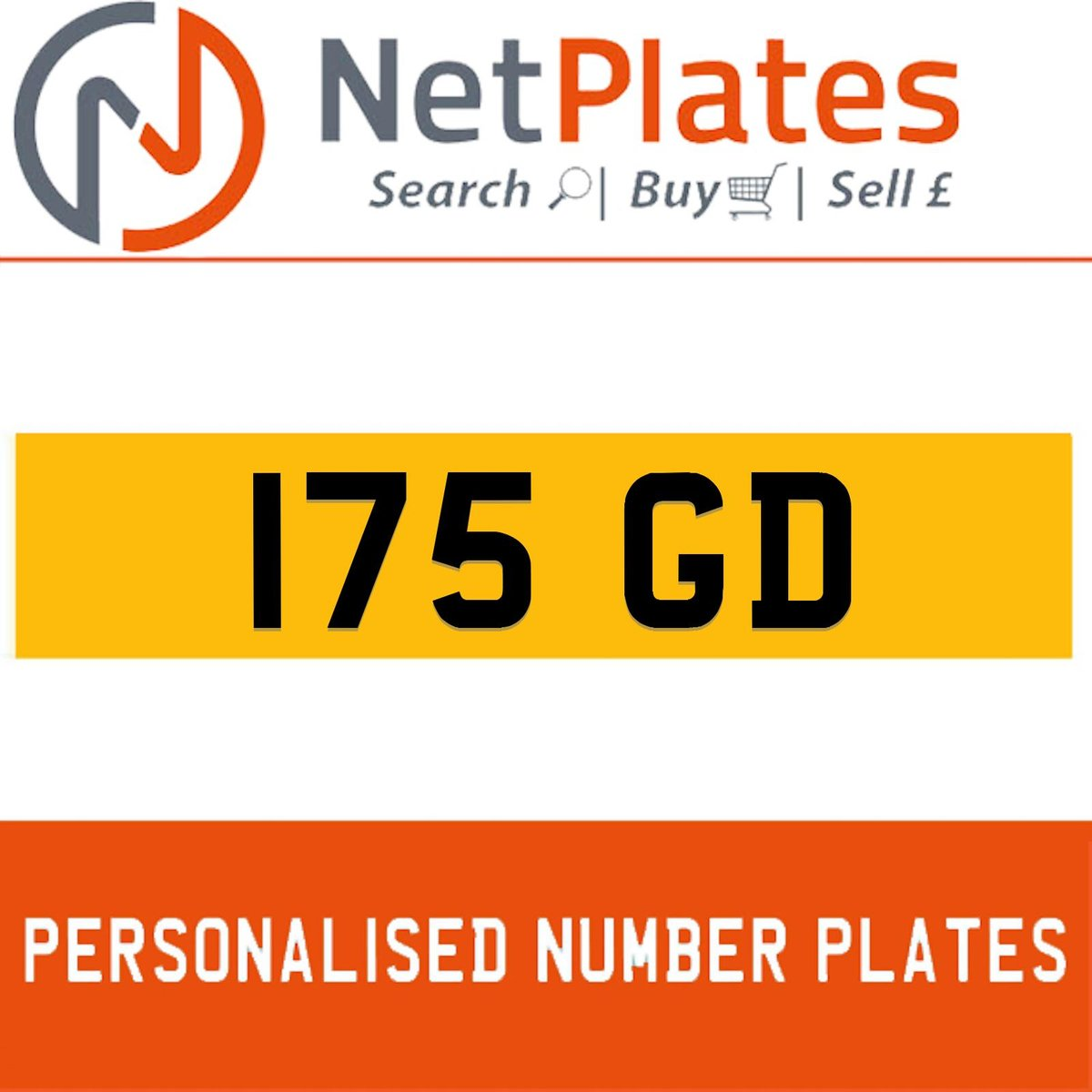 1900 175 GD Private Number Plate from NetPlates Ltd For Sale (picture 1 of 1)