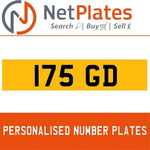175 GD Private Number Plate from NetPlates Ltd