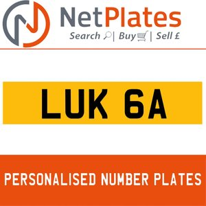LUK 6A Private Number Plate from NetPlates Ltd