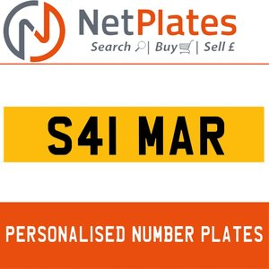 S41 MAR Private Number Plate from NetPlates Ltd