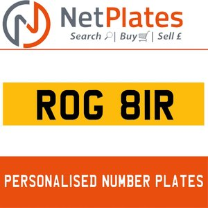 ROG 81R Private Number Plate from NetPlates Ltd