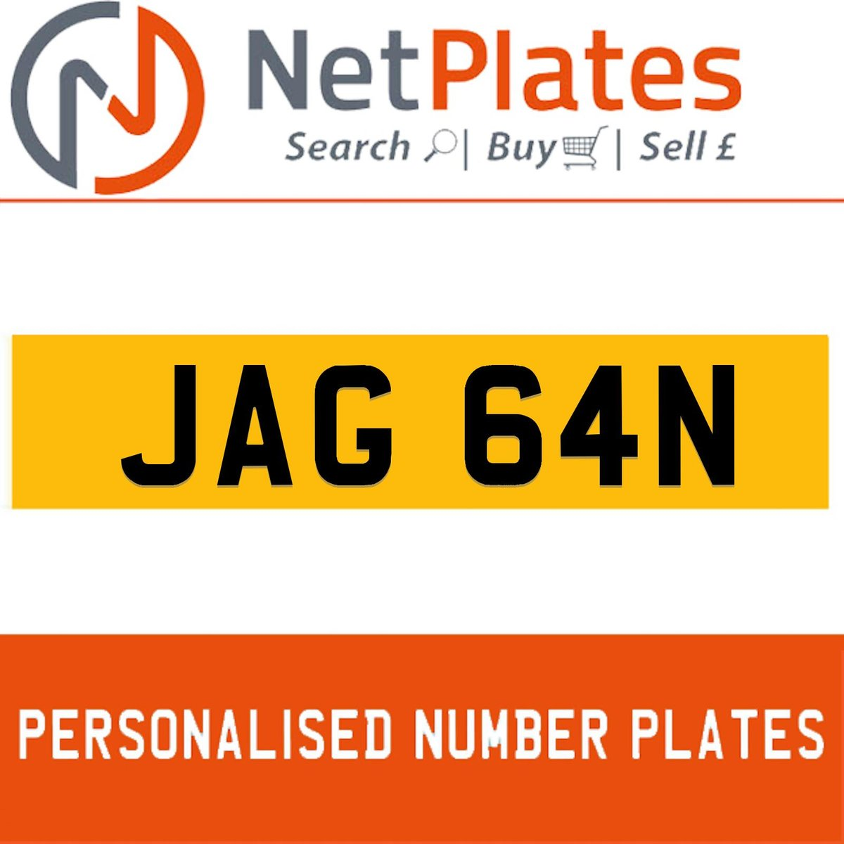 1900 JAG 64N Private Number Plate from NetPlates Ltd For Sale (picture 1 of 1)