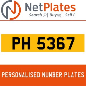 PH 5367 Private Number Plate from NetPlates Ltd