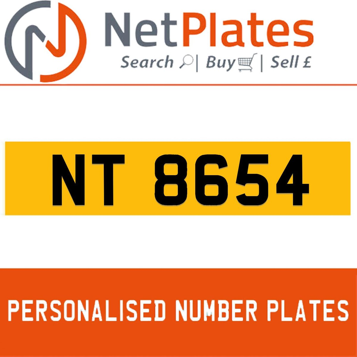 1900 NT 8654 Private Number Plate from NetPlates Ltd For Sale (picture 1 of 1)