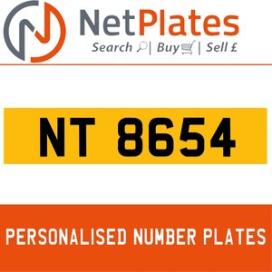 NT 8654 Private Number Plate from NetPlates Ltd