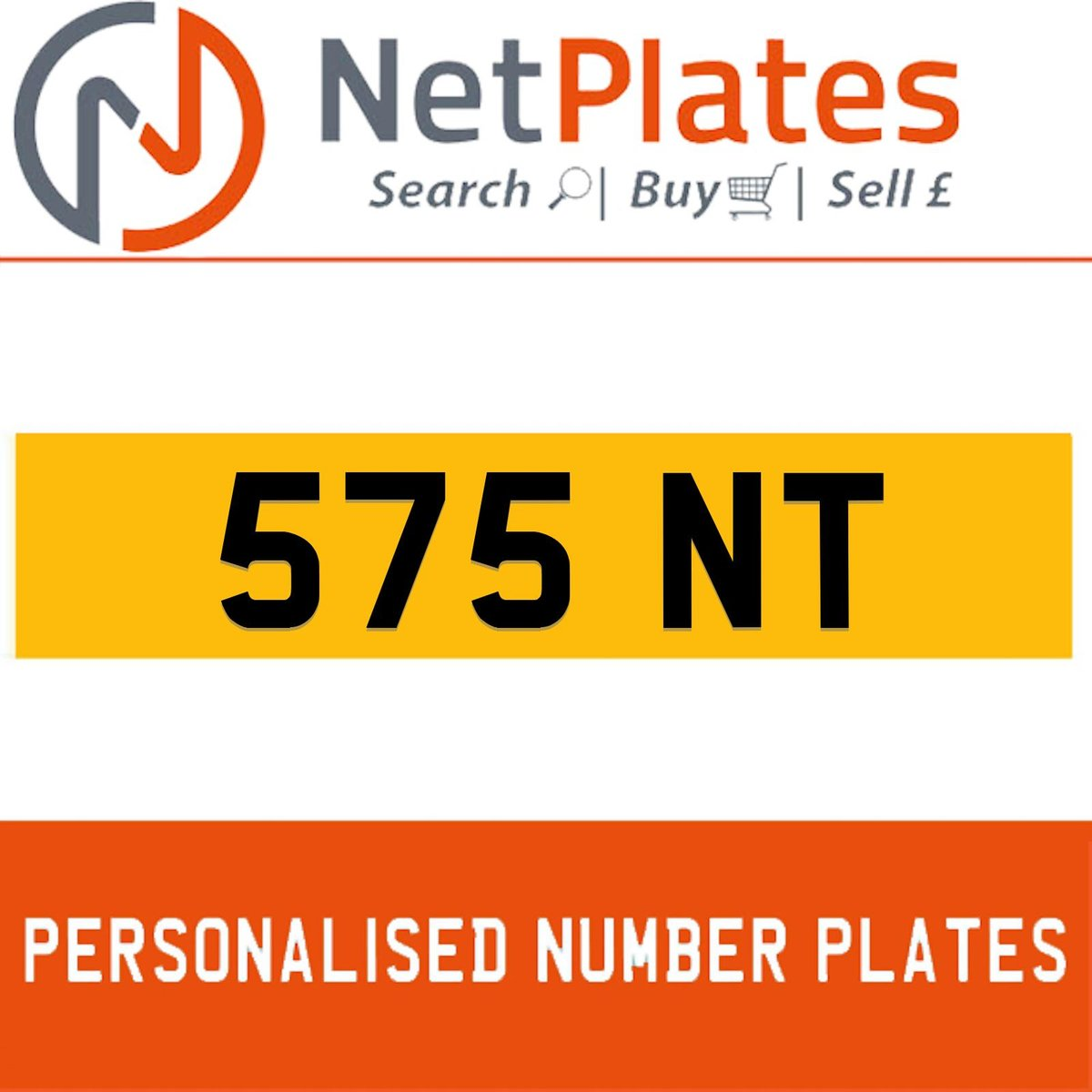 1900 575 NT Private Number Plate from NetPlates Ltd For Sale (picture 1 of 1)