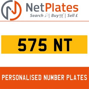 575 NT Private Number Plate from NetPlates Ltd