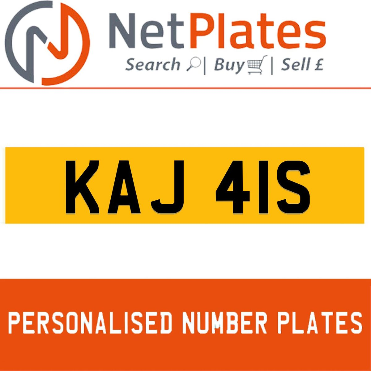 1900 KAJ 41S Private Number Plate from NetPlates Ltd For Sale (picture 1 of 1)