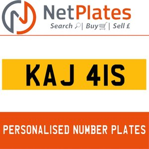 KAJ 41S Private Number Plate from NetPlates Ltd