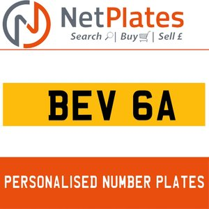 BEV 6A Private Number Plate from NetPlates Ltd