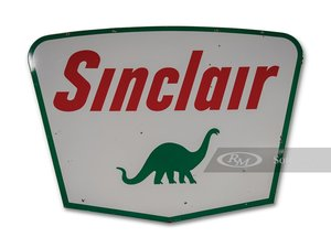 Sinclair Double-Sided Porcelain Sign