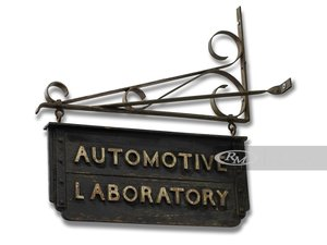 Automotive Laboratory Double-Sided Hanging Sign