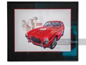 Ferrari 225 S Mille Miglia Artwork