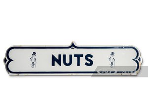 "Planters Mr. Peanut ""Nuts"" Plastic Display Sign"