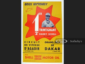 "Picture of ""Two Victories"" 1956 Original Shell Oil Advertising Poster For Sale by Auction"