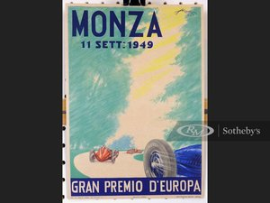 Picture of Monza 1949 Window Card For Sale by Auction
