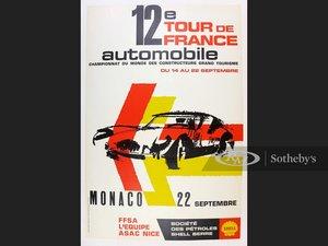 1963 Tour de France, Monaco, Original Event Poster