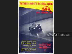 Picture of 24 Hours LeMans, 1958 Shell Commemorative Poster For Sale by Auction