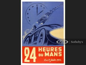 Picture of 1954 Le Mans Original Event Poster For Sale by Auction
