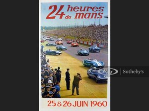 Picture of 1960 Le Mans Original Race Poster For Sale by Auction