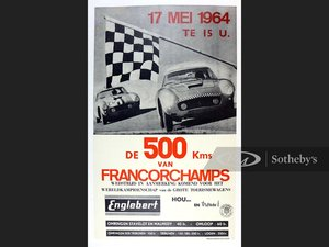 Picture of 500 Km Francorchamps, 1964 Original Event Poster For Sale by Auction