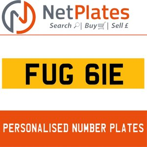 FUG 61E Private Number Plate from NetPlates Ltd