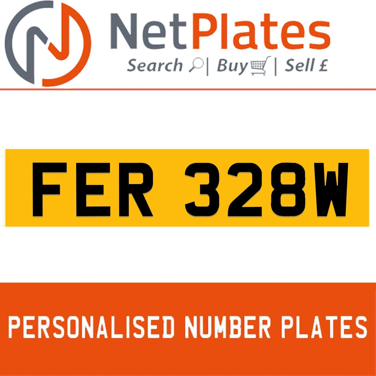 1900 FER 328W Private Number Plate from NetPlates Ltd For Sale (picture 1 of 1)