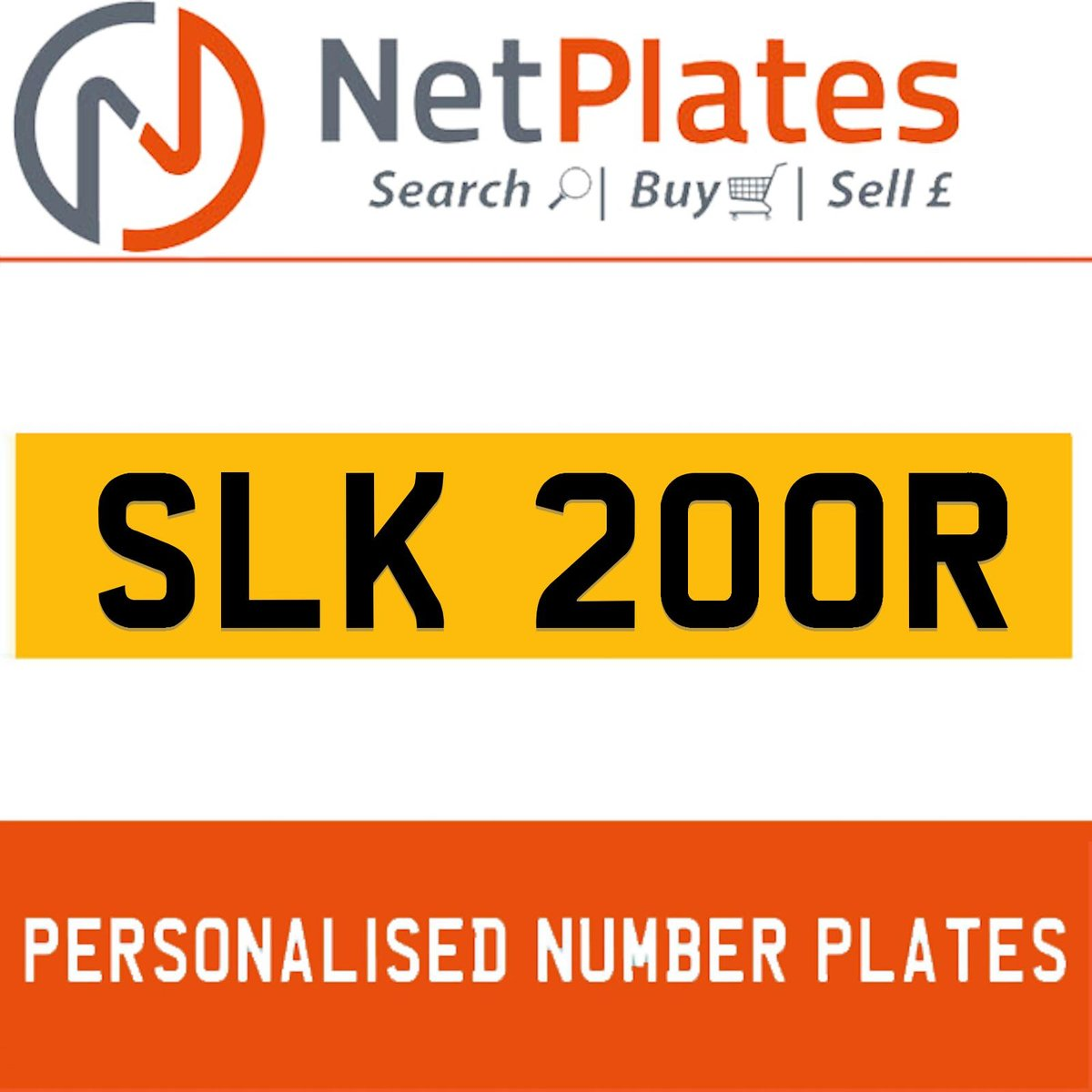 1900 SLK 200R Private Number Plate from NetPlates Ltd For Sale (picture 1 of 1)