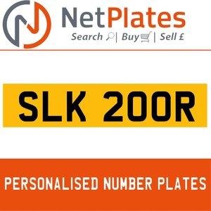 SLK 200R Private Number Plate from NetPlates Ltd
