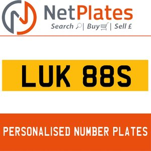 LUK 88S Private Number Plate from NetPlates Ltd