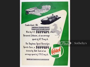 Picture of Original Castrol Ferrari Commemorative Poster For Sale by Auction