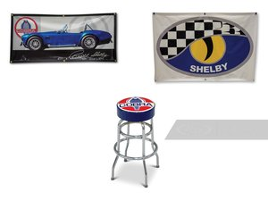 Shelby Banners and Stool