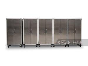 Five UltraHD Rolling Cabinets