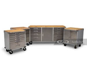 Four UltraHD Rolling Tool Cabinets