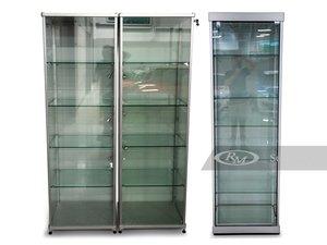 Three Glass Display Cabinets
