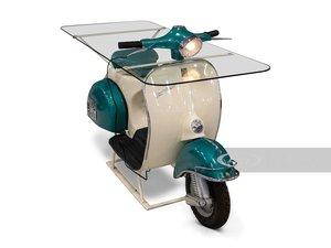 Piaggio Vespa 150 Glass Table