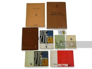 Ferrari 275 GTBGTS Owners Manuals, Folio, and Keyring