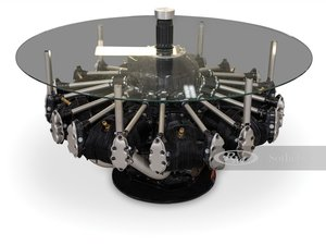 B-17 Flying Fortress Glass Coffee Table